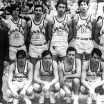 Víctor Rubio en el equipo Lanas Esmeralda (sexto por la izquierda en la fila superior)