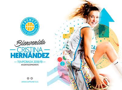 Cristina Hernández, regresa a Logroño para seguir creciendo como jugadora
